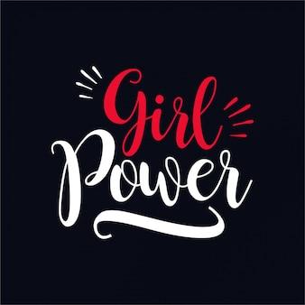 Tipografia do poder da menina