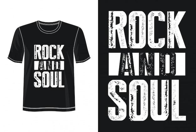 Tipografia do rock and roll para imprimir camiseta