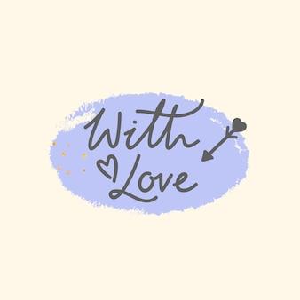 Tipografia dos namorados palavra design em fundo