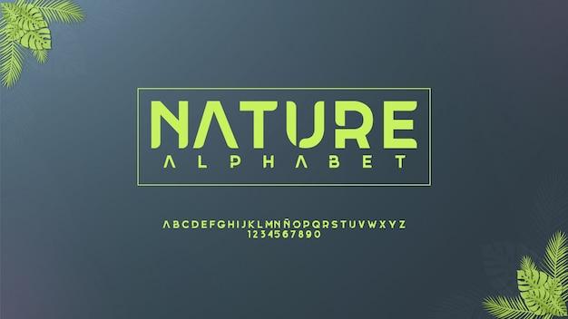 Tipografia elegante com conceito floral