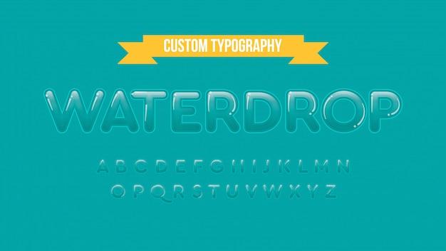 Tipografia em maiúscula arredondada sem serifa em efeito gráfico transparente