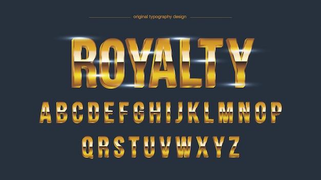 Tipografia em negrito brilho dourado