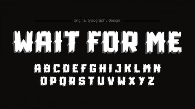 Tipografia feita sob encomenda do grunge dos desenhos animados