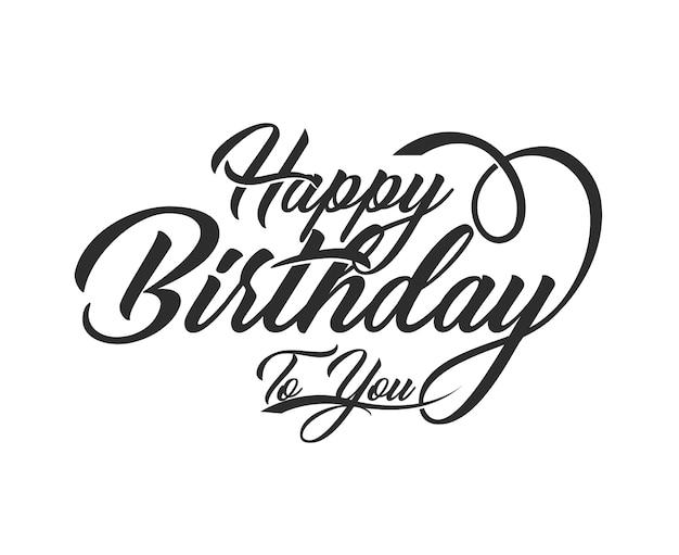 Tipografia feliz aniversário