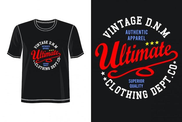 Tipografia final para impressão camiseta