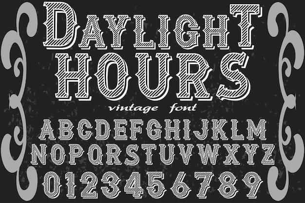 Tipografia fonte design luz do dia hourse