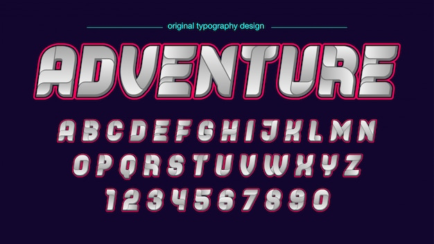 Tipografia futurista abstrata