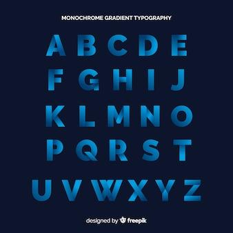 Tipografia gradiente monocromática
