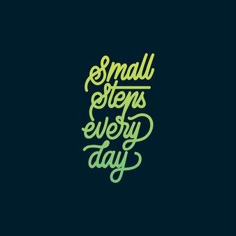 Tipografia handlettering pequenos passos todos os dias