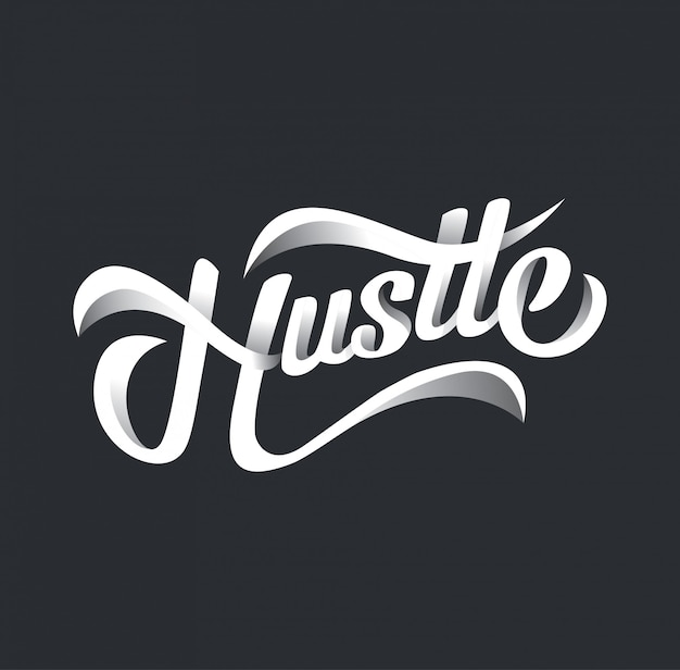 Tipografia hustle design