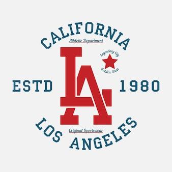 Tipografia los angeles califórnia para design de roupas gráficos para impressão de camisetas de produtos