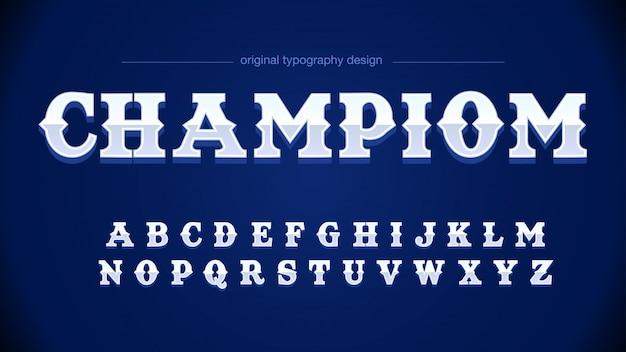 Tipografia moderna cinzenta azul esportiva
