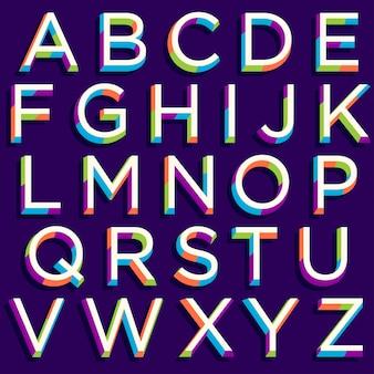 Tipografia moderna colorida