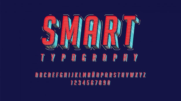 Tipografia moderna com efeito de belas linhas