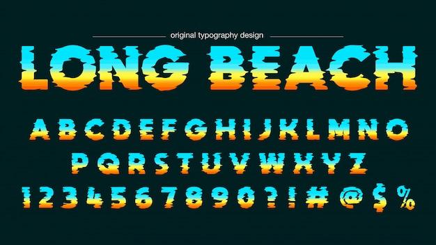 Tipografia negrito horizonte abstrato