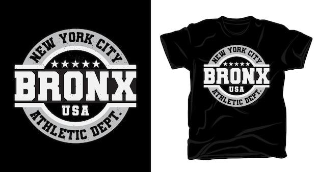 Tipografia new york city bronx para design de camisetas