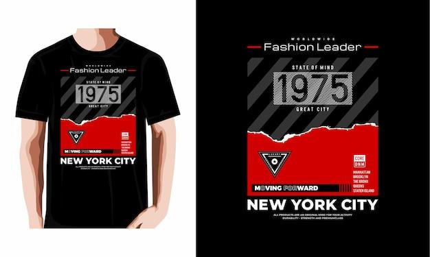 Tipografia nova iorque design de tshirt vetor premium