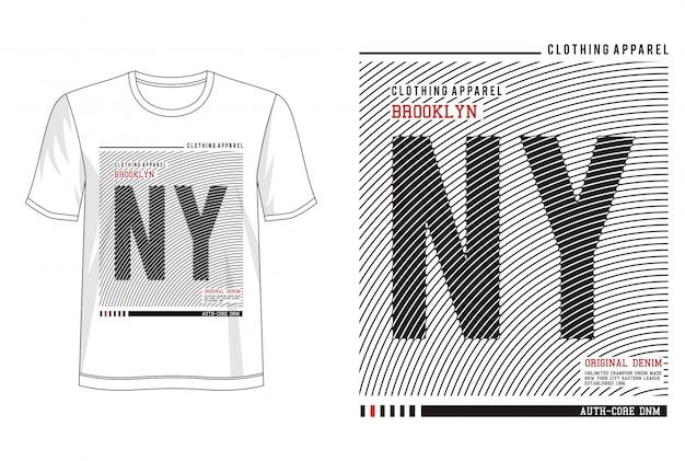 Tipografia ny para camiseta