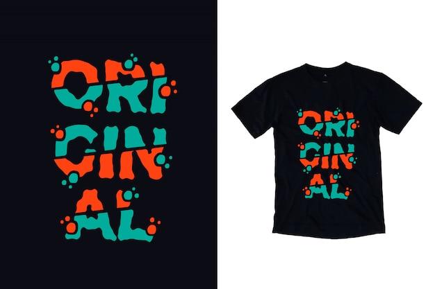 Tipografia original para design de camiseta