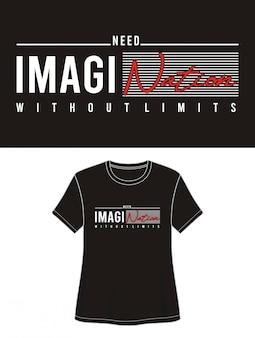 Tipografia para impressão menina camiseta
