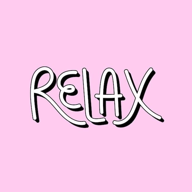 Tipografia relaxante ilustrada em um fundo rosa