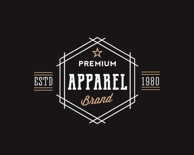 Tipografia retro de marca de vestuário premium