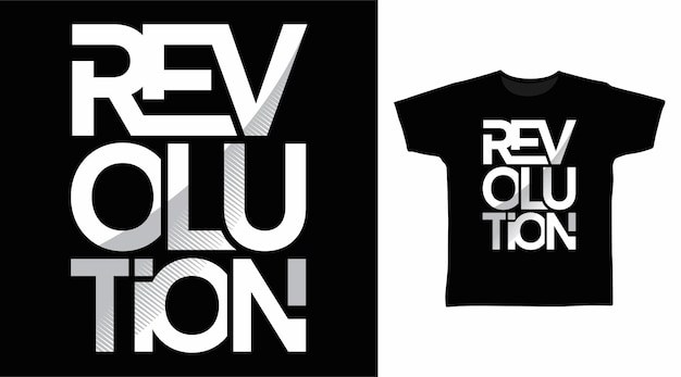 Tipografia revolution para tee design