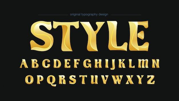 Tipografia seric clássica dourada