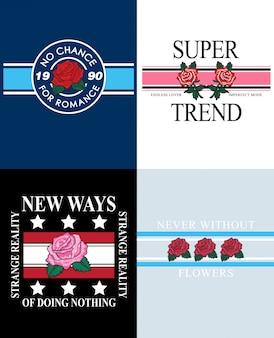 Tipografia slogan para impressão de camisetas