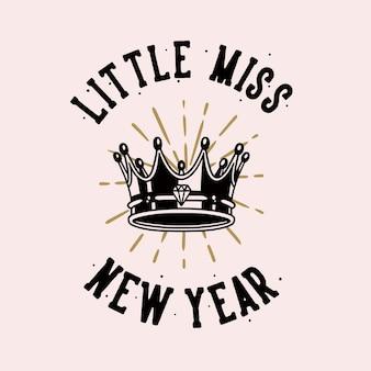 Tipografia slogan vintage, saudade de ano novo