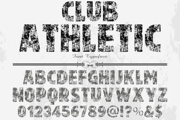 Tipografia tipo rótulo rótulo design clube atlético