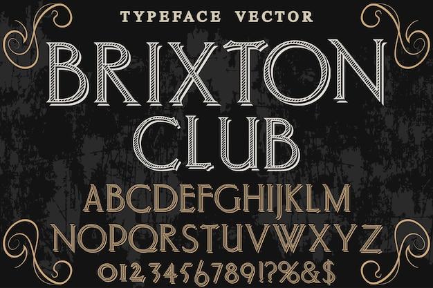 Tipografia, tipografia, fonte, desenho, brixton, clube