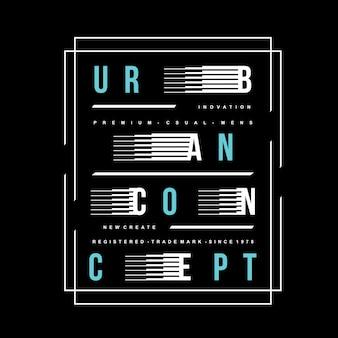 Tipografia urbana camiseta, estoque vetor