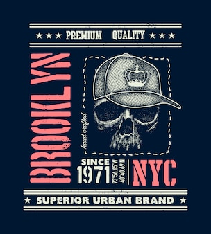 Tipografia urbana vintage, gráficos de t-shirt