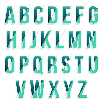 Tipografia verde fatiada moderna