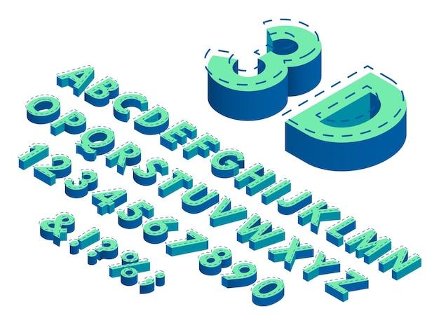 Tipografia verde isométrica