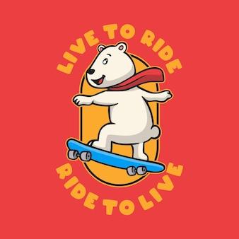 Tipografia vintage com slogan de animais, viva para cavalgar, monte para viver