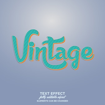 Tipografia vintage para o título