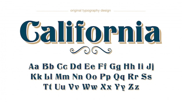 Tipografia vintage serif clássica