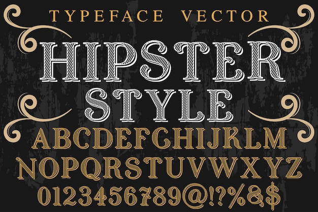 Tipografia vintage tipografia estilo moderno de design de fonte