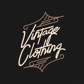 Tipografia vintage vestuário design de logotipo