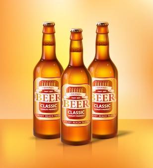 Tipos clássicos de cerveja de vetor de bebidas alcoólicas