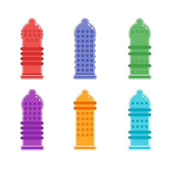 Tipos de camisinha texturizada de preservativo