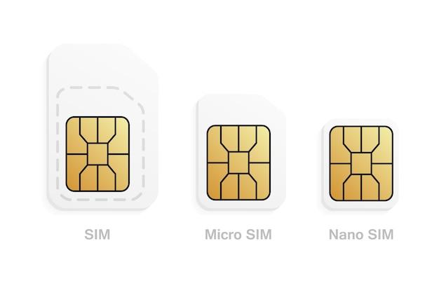 Tipos de cartão sim para celular