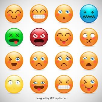 Tipos de coleção do smiley