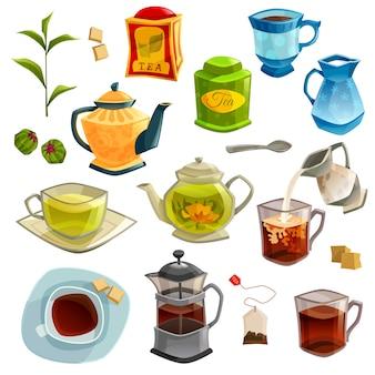 Tipos de conjunto de chá