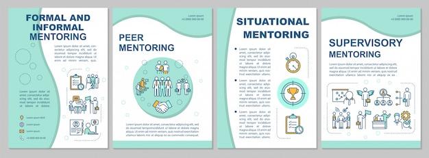 Tipos de modelo de folheto de mentoria