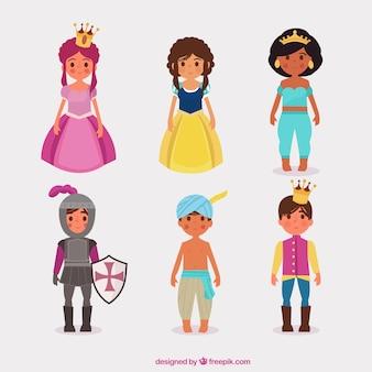 Tipos de princesa e príncipes