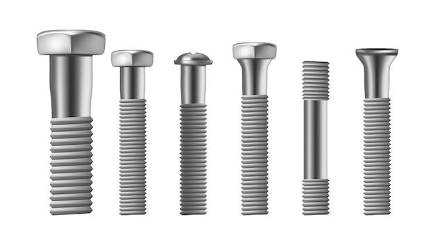 Tipos realistas de parafuso de latão de aço