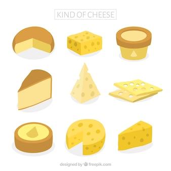 Tipos saborosos de queijos